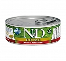 Farmina N&D Wet Cat Food Grain Free Prime Chicken & Pomegranate Adult - 80 gm (12 Cans)