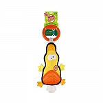 GiGwi Iron Duck Plush Tug Toy with TPR Handle Dog Toy