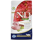 Farmina N&D Dry Cat Food Grain Free Quinoa Weight Management Lamb Adult - 1.5 kg