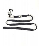 Ezra Double Thick Reflective 25 mm Dog Collar - Black