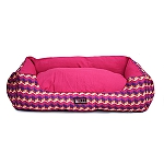 Mutt Of Course Geometrical Dark Lounger Bed - Small