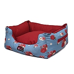 Mutt Of Course Lounger Bed For Dogs - Pawsome Blossom - Medium