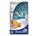 Farmina N&D Dry Dog Food Ocean Codfish & Orange Adult Medium & Maxi - 2.5 Kg (Pack Of 4)