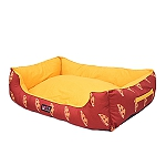 Mutt Of Course Lounger Bed For Dogs - Pupperoni Pizza - Medium