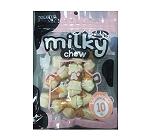 Milky Chew Bone With Chicken  Dog Treat - 10 Pieces