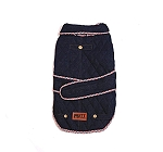 Mutt Of Course Denim Jacket Dark Blue - Large