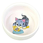 Trixie Cat Ceramic Bowl - 300 ml