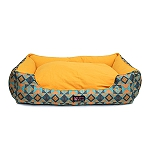 Mutt Of Course Lounger Bed For Dogs - Trickey Turkey - Xlarge