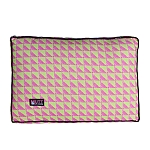 Mutt Of Course Water Color Pink & Green Flat Bed - Small