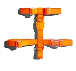 Zeedog Neopro Tangerine Dog H-Harness- Medium