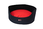 Mutt Of Course Basket Bed For Dogs -Blue - Large