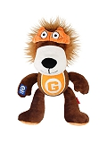 Gigwi Lion Plush and Tennis Ball with Squeaker Dog Toy