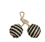 Trixie 2 Balls on a Rope Sisal with Bell