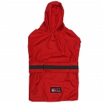 Mutt Of Course Dog Raincoat Red - XLarge