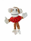 Smarty Pet Rubber N Plush Monkey Toy - Small