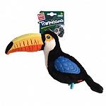 GiGwi Tropicana Flamingo Sturdy Plush TPR Dog Toy