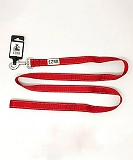 Ezra Double Thick Reflective 25 mm Dog Leash - Red
