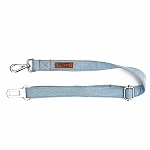 Mutt Of Cource Adjustable Car Seat Belt - Light Denim