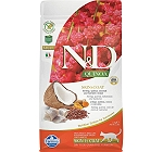 Farmina N&D Dry Cat Food Grain Free Quinoa Skin & Coat Quail Adult - 5 Kg (Pack Of 2)