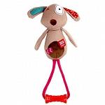 GiGwi Lion Plush Friends With TPR Johnny Stick Dog Toy