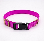 Forfurs Adjustable Classic Dog Collar Hot Pink - large