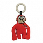 GiGwi Puffer Zoo Monkey canvas Fabric with Synthetic Wood Ring  - Small