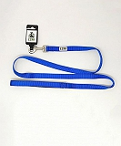 Ezra Single Thick 19 mm Dog Leash - Blue