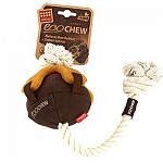 GiGwi Eco Chew Natural Raw Rubber and Cotton Canvas Brown Dog Toy