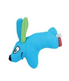 GiGwi Puffer Zoo Rabbit Knitted Fabric Dog Toy - Blue