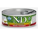 Farmina N&D Wet Cat Food Grain Free Chicken & Pomegranate Adult Cat - 80 gm (Pack Of 12)