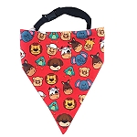 LANA Paws Animal Farm Adjustable Bandana - Medium & Large