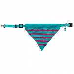 Trixie Cat collar with neckerchief stripes/paw