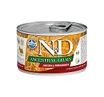 Farmina N&D Wet Dog Food Ancestral Grain Chicken & Pomegranate Mini Adult - 140 gm (6 Cans)