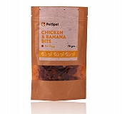 PetSpot Chicken & Banana Bits - 70 gm