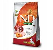 Farmina N&D Dry Dog Food Grain Free Pumpkin Chicken & Pomegranate Puppy Mini Breed - 7 Kg