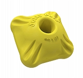 Jolly Pets Flex-n-Chew Squarable Dog Toy Small - Yellow