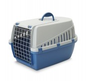 Savic Dog Carrier Trotter3 - Atl. Blue/Light Grey - Medium - (LxWxH - 60.9x40.6x38 cm)