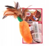KONG Feather Top Carrot Cat Toy