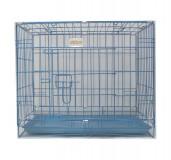 Dog Cage Medium - (LxBxH - 35x23.5x27)  Blue