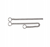Trixie Chrome Choke Chain, 26 inches - 3 mm