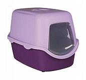 Trixie Vico Cat Litter Tray With Dome Purple/Lilac  (LxBxH - 23x16X16 Inch)