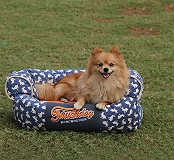 Touchdog Lazy-Bones Rabbit-Spotted Premium Couch Dog Bed - Small