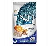 Farmina N&D Dry Dog Food Ocean Codfish & Orange Adult Medium & Maxi - 2.5 Kg (Pack Of 4)