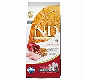 Farmina N&D Dry Dog Food Chicken & Pomegranate Adult Light Medium & Maxi Breed - 12 Kg