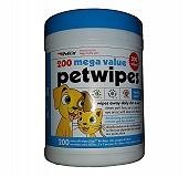 Petkin Mega Value Petwipes - 200 Wipes