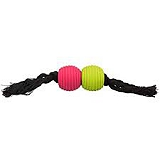 Trixie Playing Rope with Balls latex/cotton soundless - 32 cm
