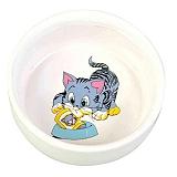 Trixie Cat Ceramic Bowl - 300 ml