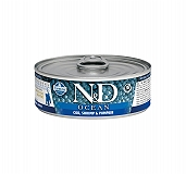 Farmina N&D wet Cat Food Grain Free Ocean COD Shrimp & Pumpkin Kitten - 80 gm (12 Cans)