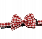Mutt Of Course Checkmate Bow Tie Red - Large