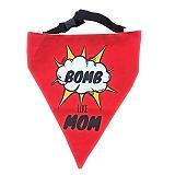 LANA Paws Bomb Like Mom Adjustable Bandana - Medium & Large